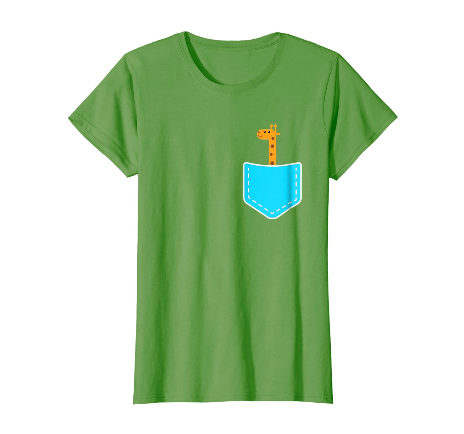 Cute Giraffe In Your Pocket Funny T-shirt