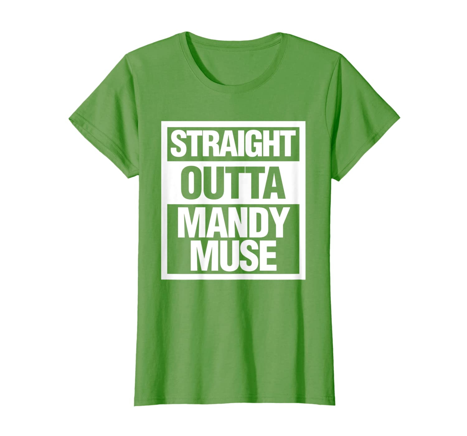 Amazon com: Straight Outta Mandy Muse Funny Adult Parody T