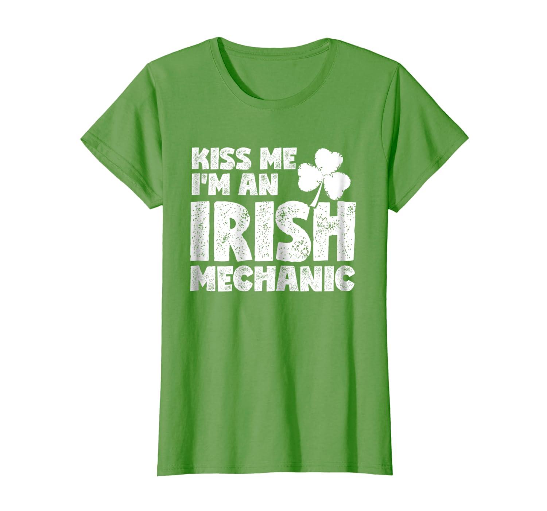 Kiss Me I'm An Irish Mechanic Shirt