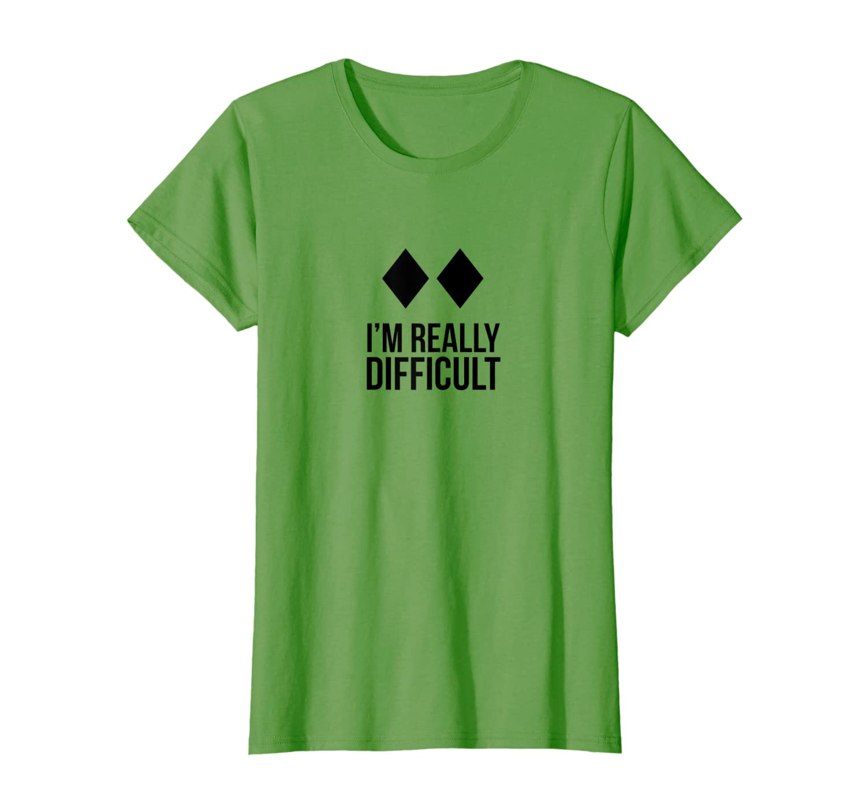 2e762a2f58 Amazon.com: Funny ski skier or snowboard I'm Really Difficult shirt:  Clothing