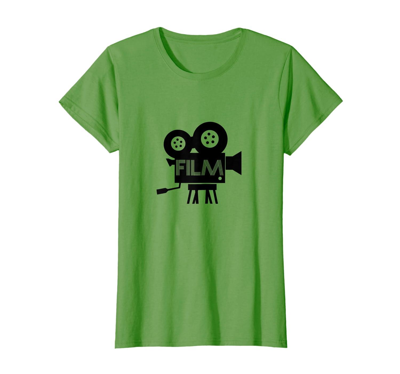 22b88ca3 Amazon.com: Film Fanatic Graphic Tee Cinema Movie Lover Retro T-Shirt:  Clothing