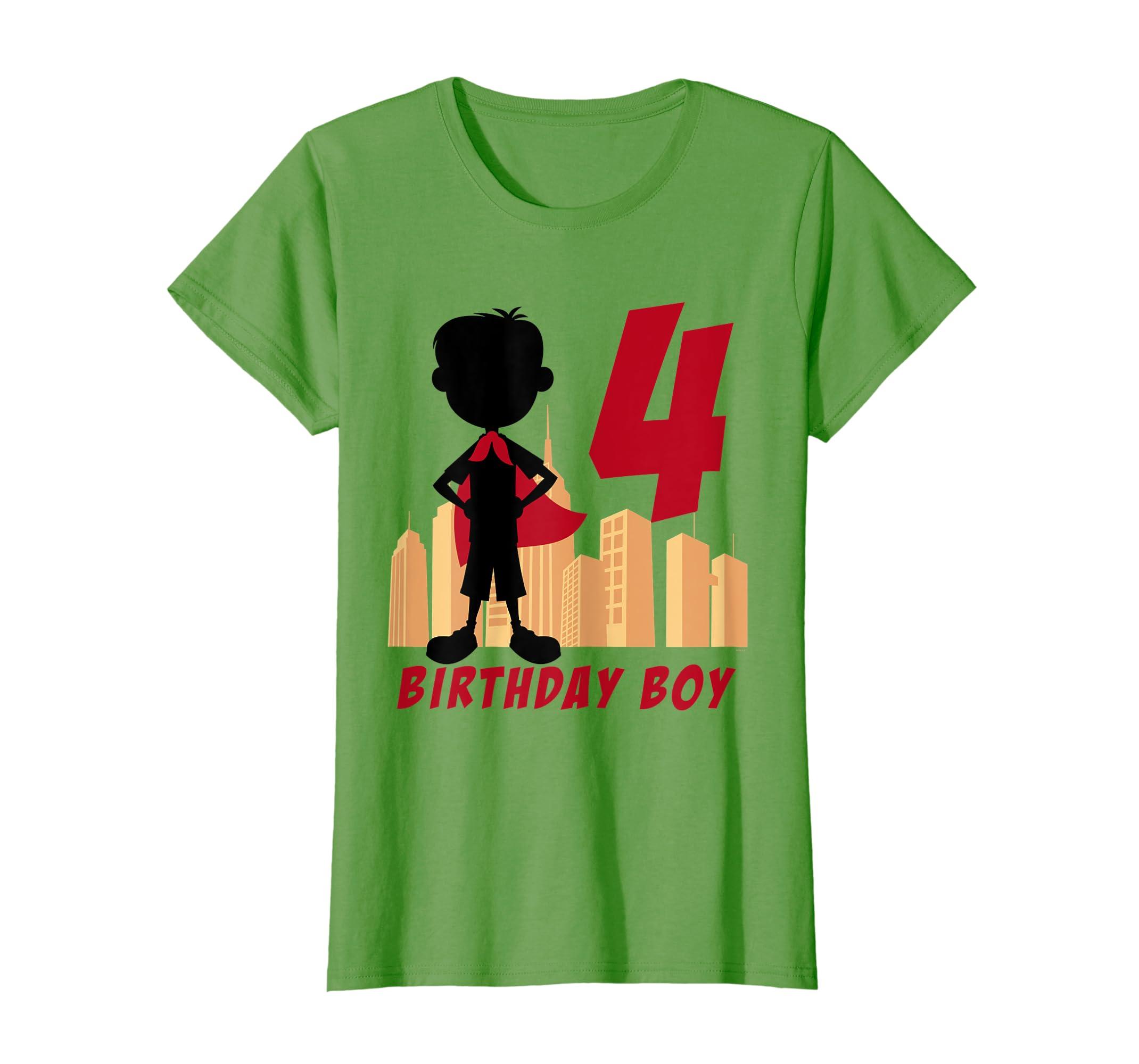 Amazon Kids 4th Birthday Comic Superhero T Shirt For 4 Yr Old Boys Clothing