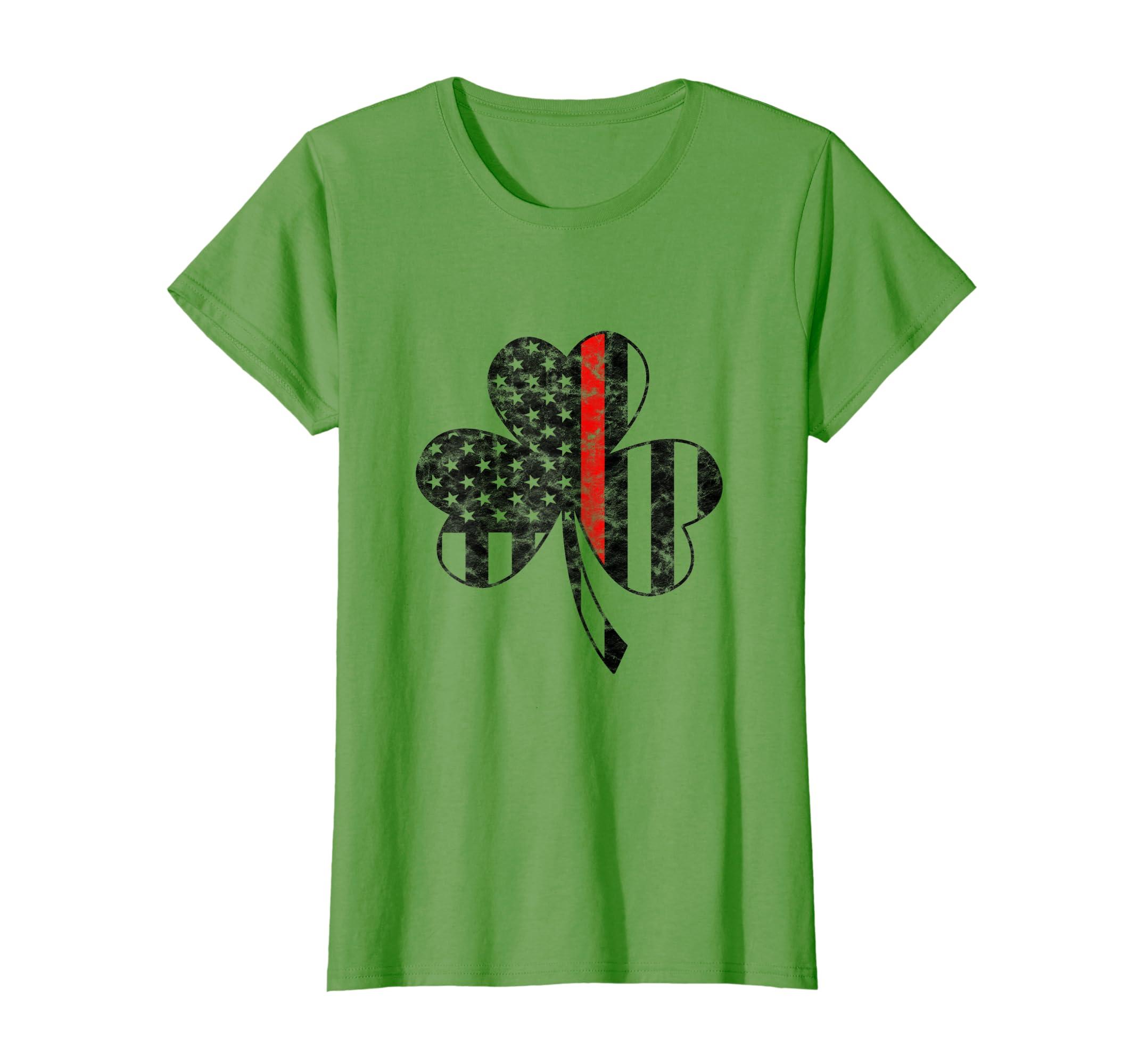 b4c6b097 Amazon.com: Thin Red Line Firefighter St Patricks Day Shirt Irish Flag:  Clothing