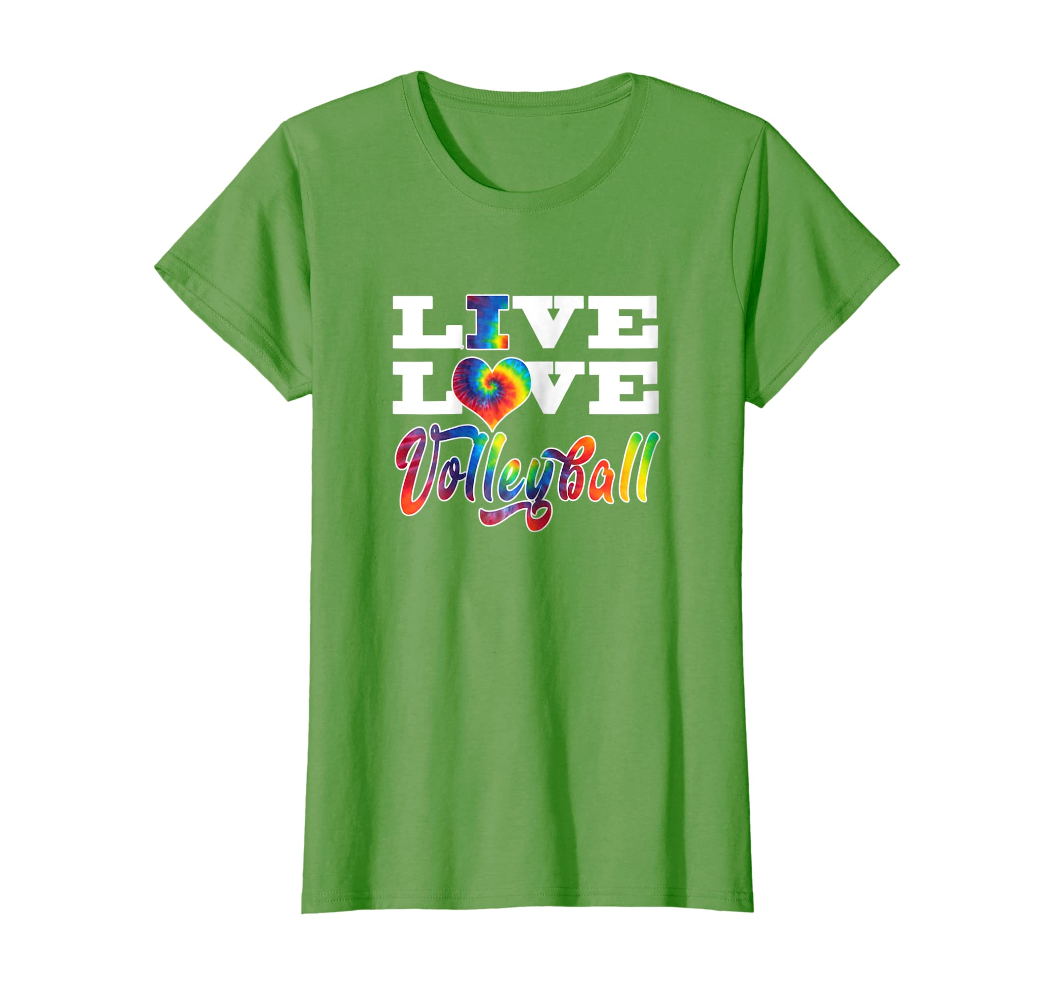 Volleyball Colorful Tie Dye Live Love T Shirt-ln