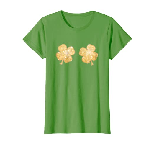 Image Unavailable. Image not available for. Color  Womens Lucky Shamrock  Clover Boobs St. Patrick s Day T-Shirt 40e797f99