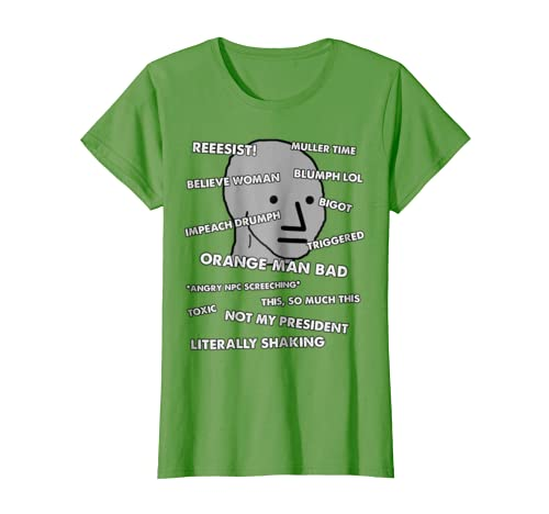 Amazoncom Npc Meme Shirt For Conservative Republican Npc Shirt