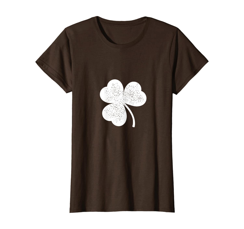 Green Irish Distressed Shamrock Tee St Patricks Day Mens T-Shirt-Colonhue