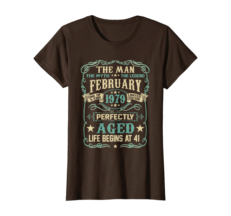 41st Birthday Gift The Man Myth Legend Born In FEBRUARY 1979 T-Shirt