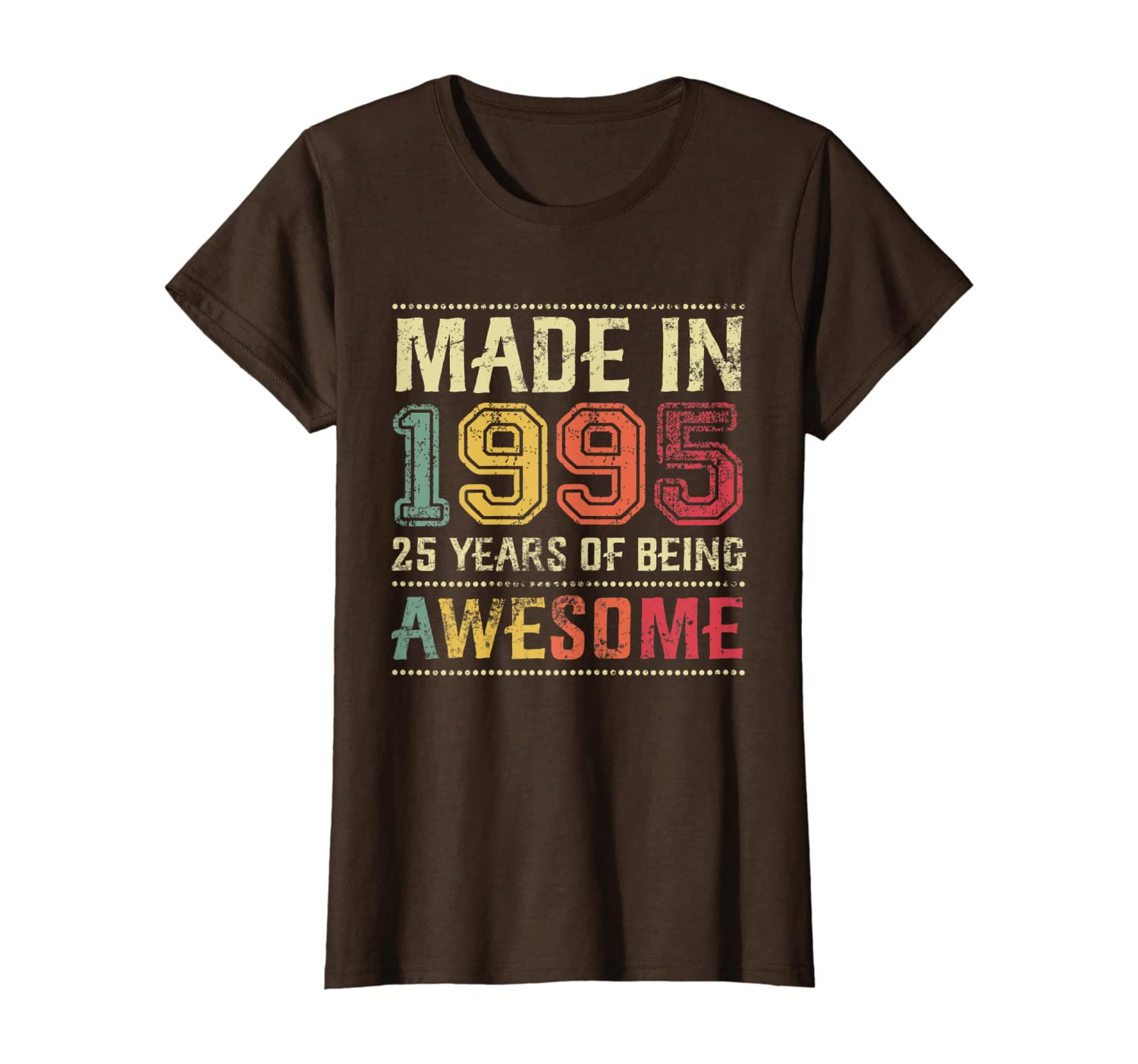 Made In 1995 Vintage 25th Birthday Gifts Retro 25 Years Old T-Shirt