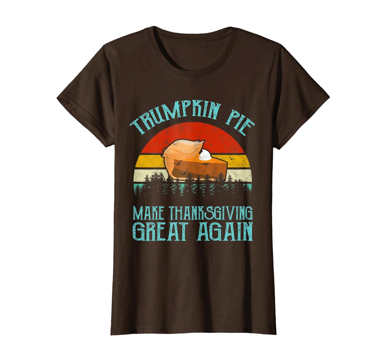 Retro Funny Trumpkin Pie Make Thanksgiving Great Again  T-Shirt