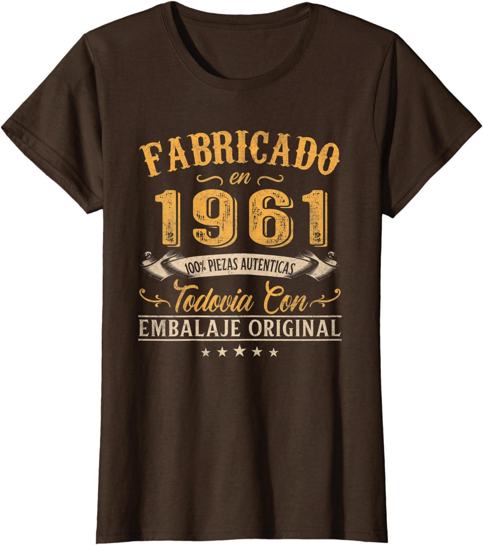 Fabricado En 1961 Regalo Para Hombre 60 A/ños Cumplea/ños Camiseta