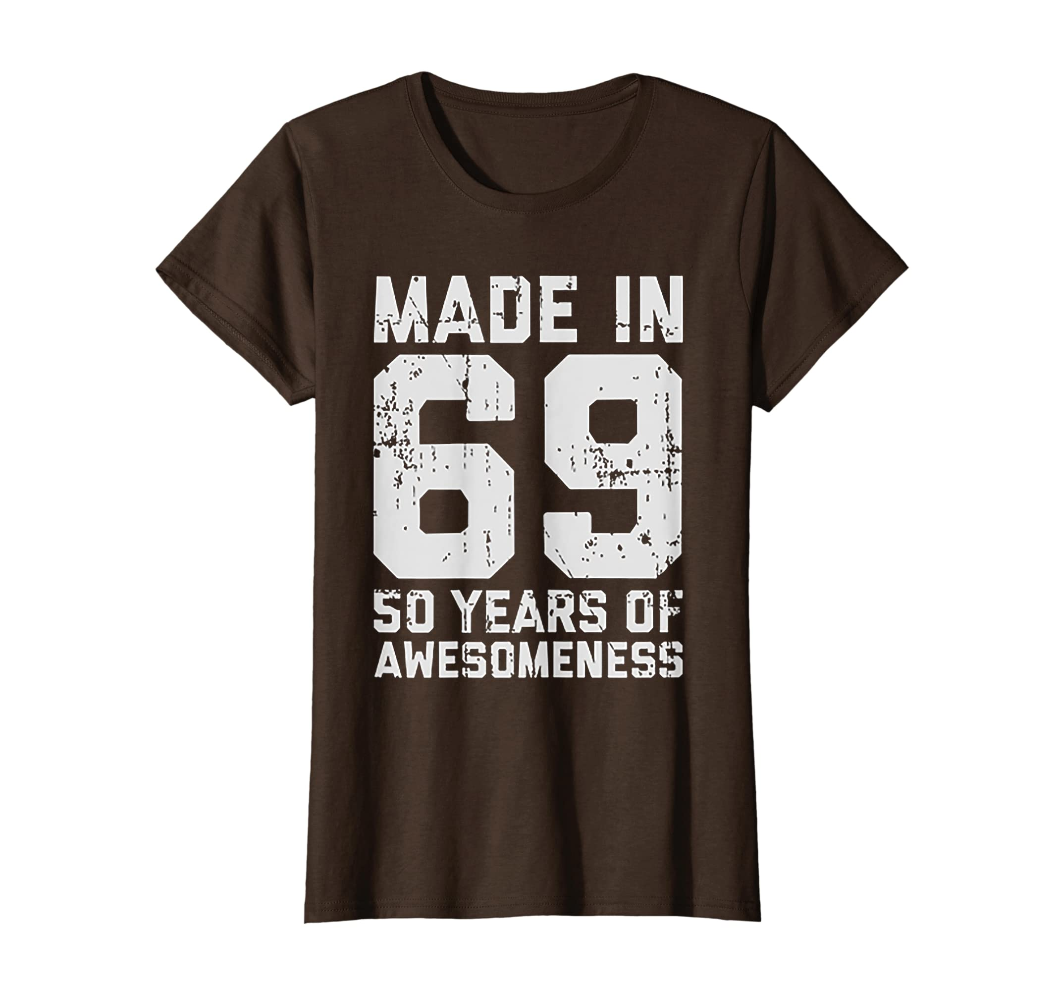 Amazon Made In 69 50 Years Of Awesomeness 50th Birthday TShirt Clothing