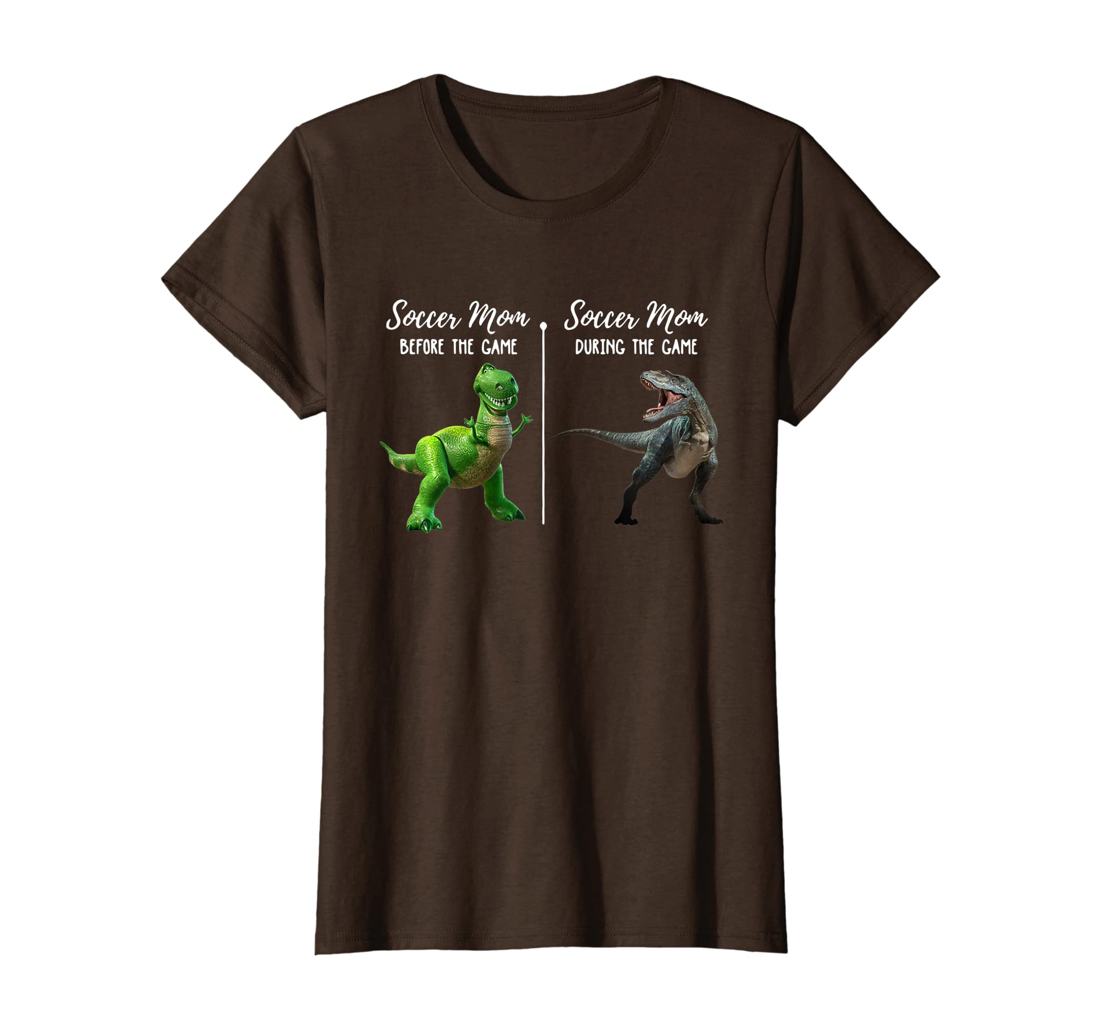 58fdf0c8 Amazon.com: Soccer Mom Before During The Game Funny Dinosaur T-shirt:  Clothing