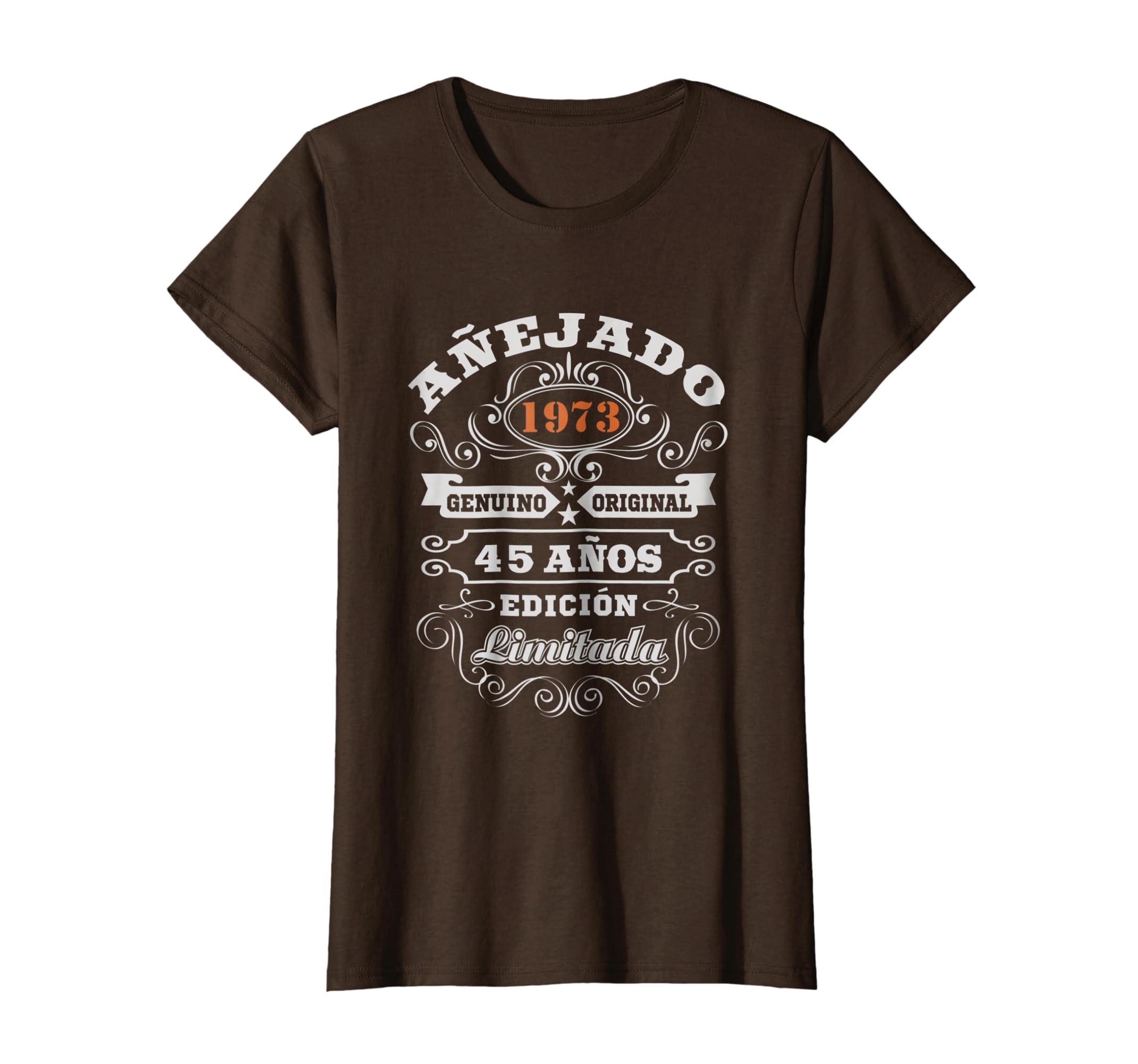 Amazon.com: Camiseta Cumpleanos 45 T-Shirt 1973 45 Anos ...