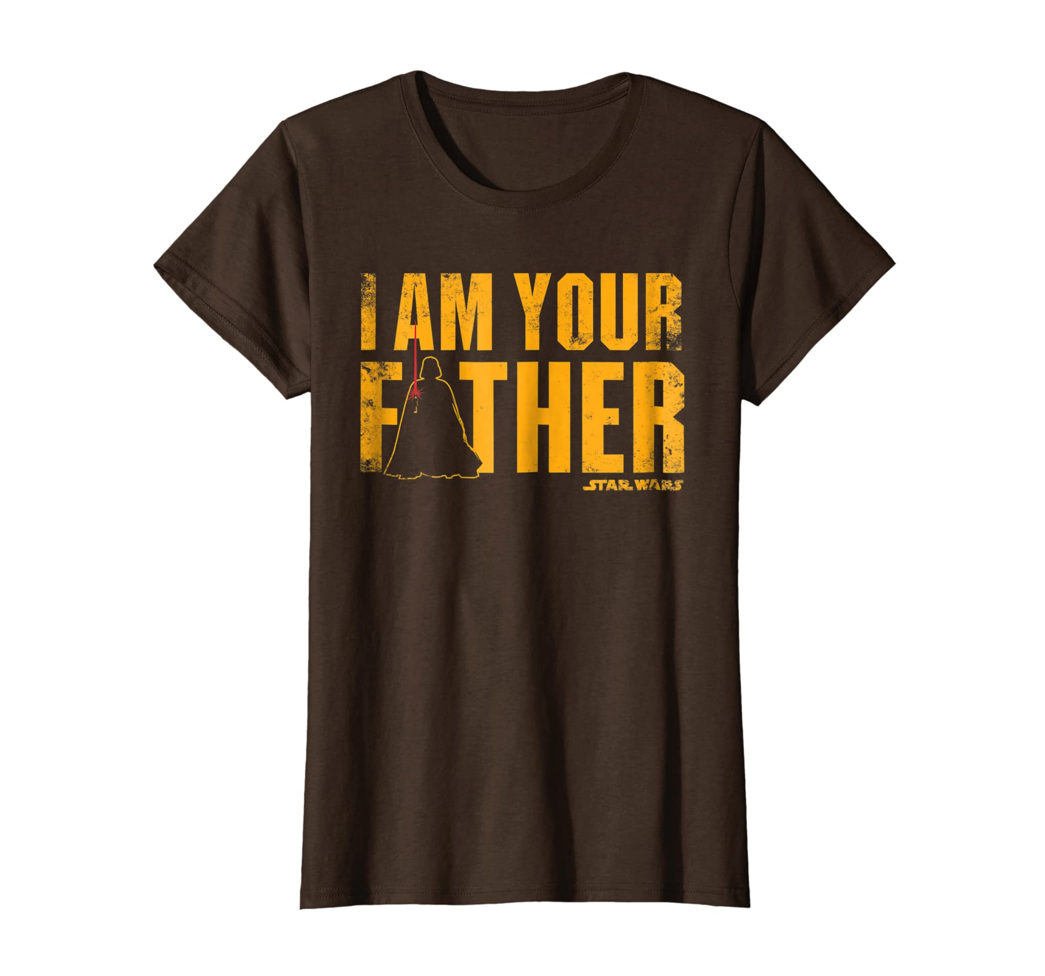 663d80c2 Amazon.com: Star Wars Vader I Am Your Father Silhouette Graphic T-Shirt:  Clothing