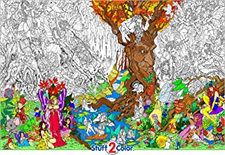 Beneath The Trees - Giant Wall Size Coloring Poster - 32.5