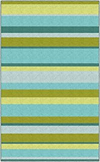 Brumlow Mills Lime Traditional Green Striped Area Rug, 2'6