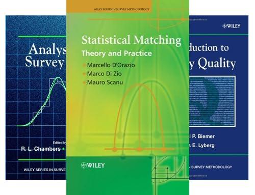Wiley Series in Survey Methodology (26 Book Series)