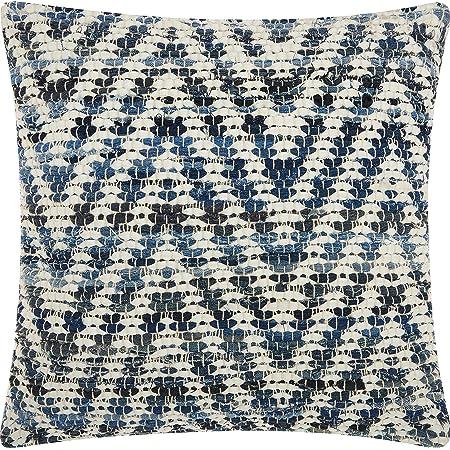 Silver Woven Chevron Decorative Pillow Cover 20 x 20