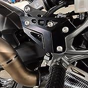 Keenso Motorrad Fußrasten Schutz Motorrad Fußstütze Fußnägel Protector Fußrasten Protector Schutzfolie Für Kawasaki Z900 2017 Schwarz Auto