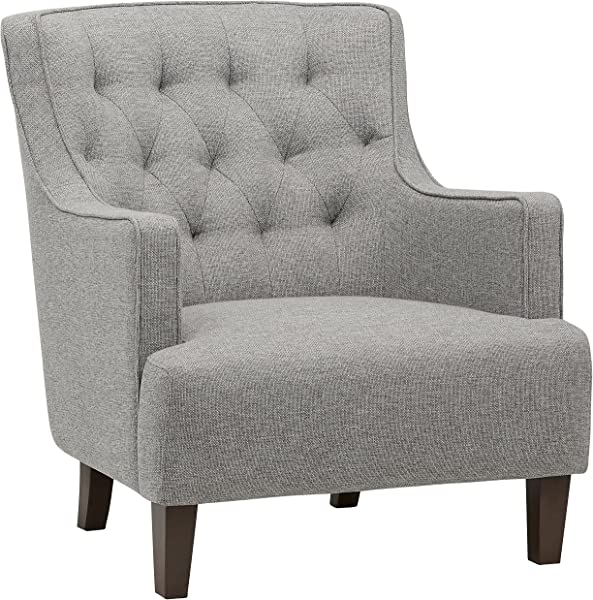 Stone Beam Decatur Modern Tufted Wingback Living Room Accent Chair 32 3 W Silver
