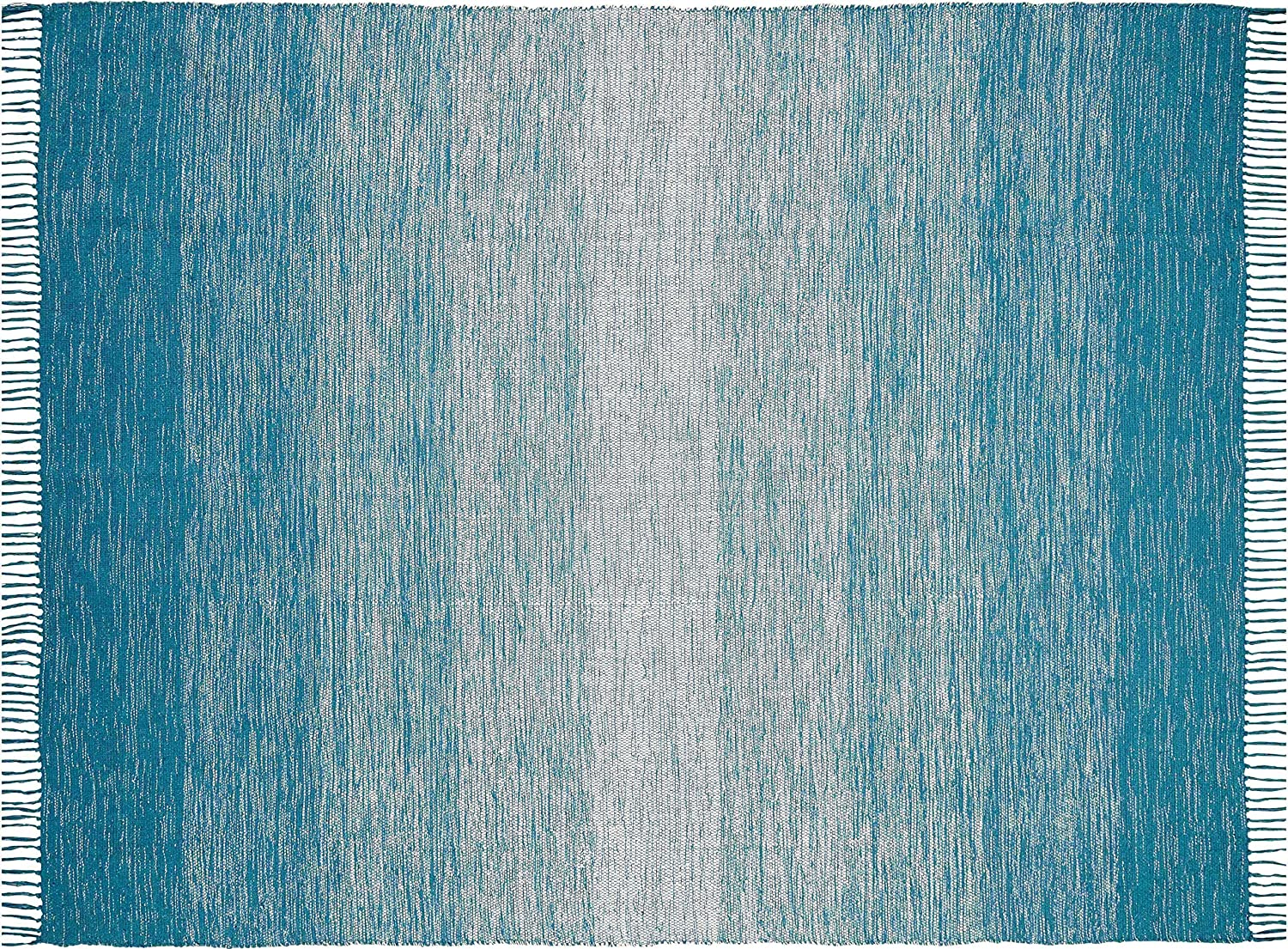 Chesapeake Merchandising wholesale Cotton Ombre Teal Area Gifts 5'x7' Rug Large