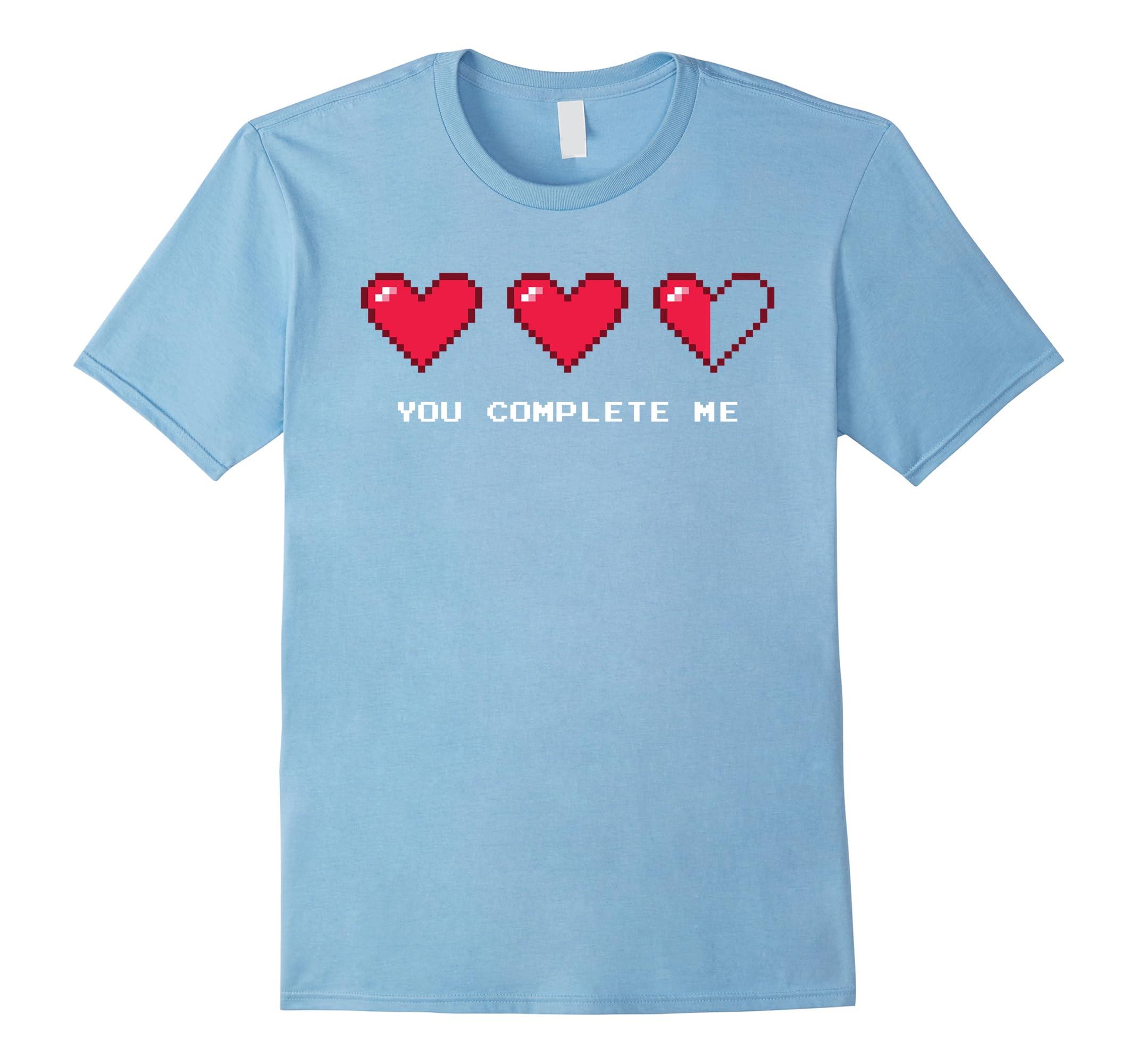 8 Bit Retro Pixel Heart Video Gamer Valentines T-Shirt-RT
