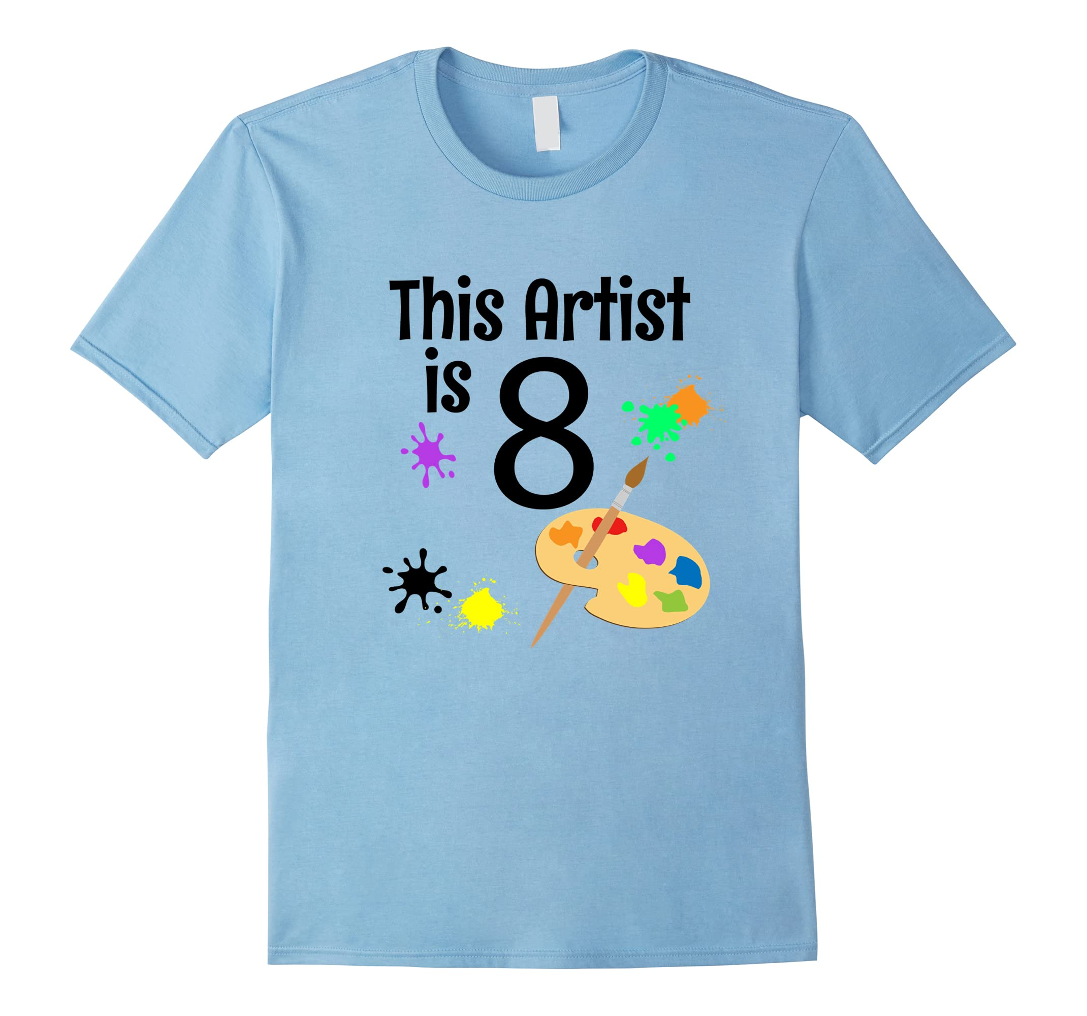 8 Year Old Art Painting Birthday Party 8th Shirt Teechatpro
