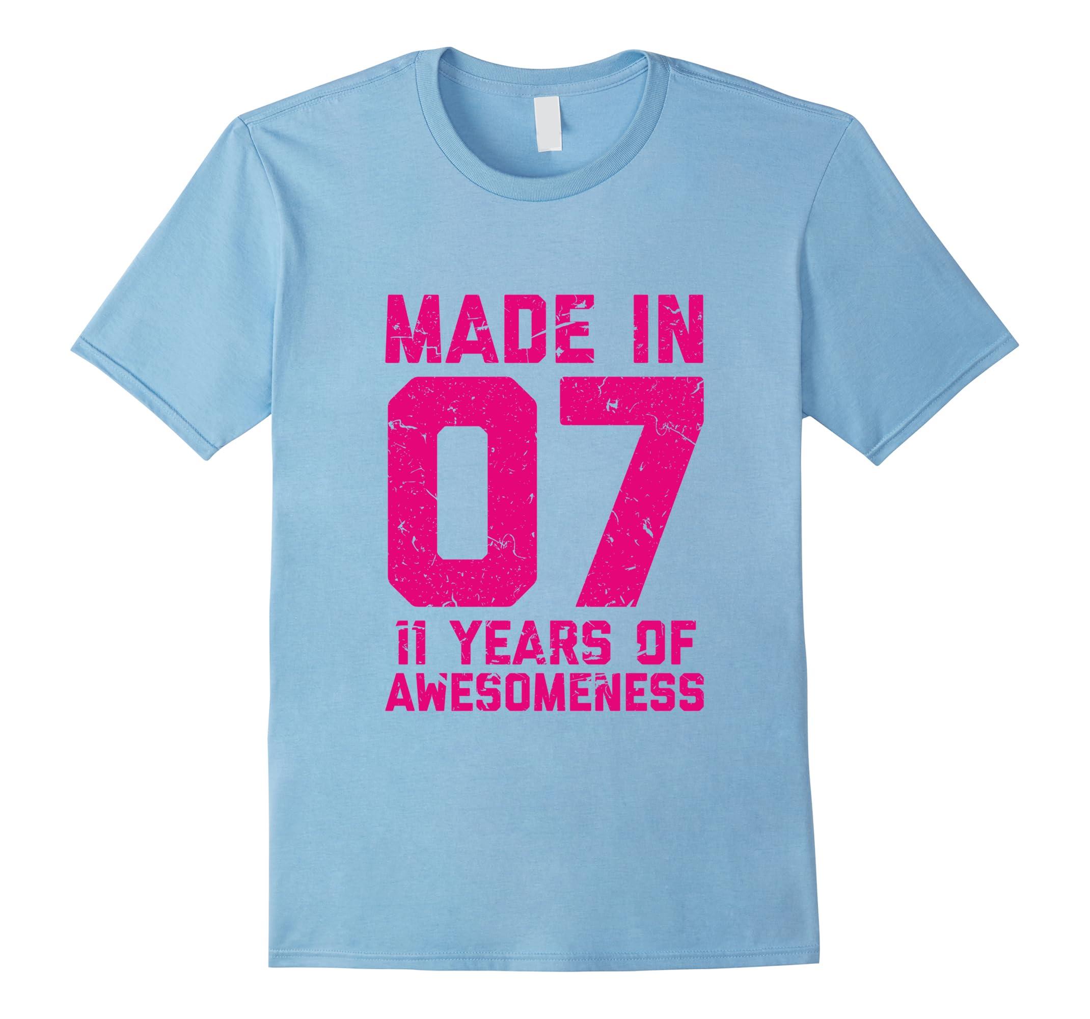 11th Birthday Shirt Gift Girls Age 11 Eleven Year Old Girl