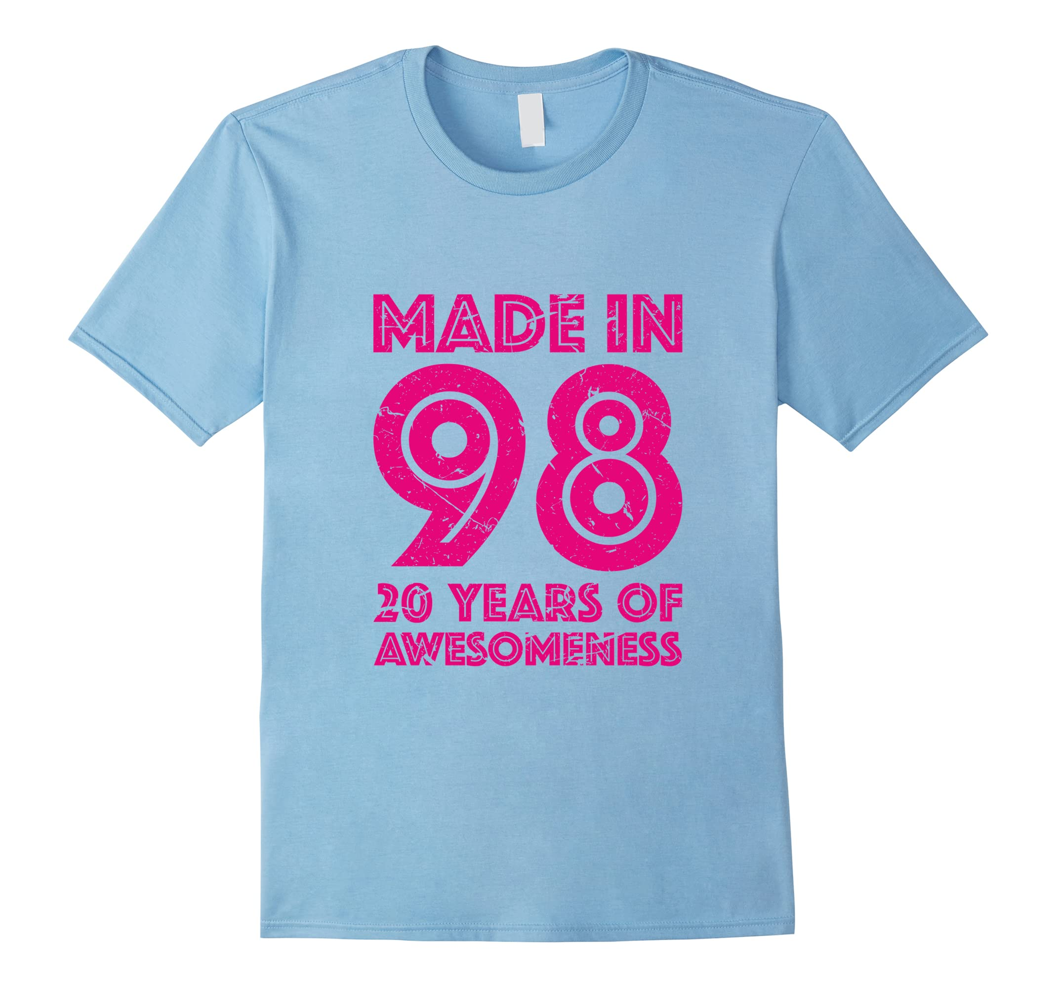 20th Birthday Shirt Gift Girls Age 20 Year Old Women Tshirt-RT