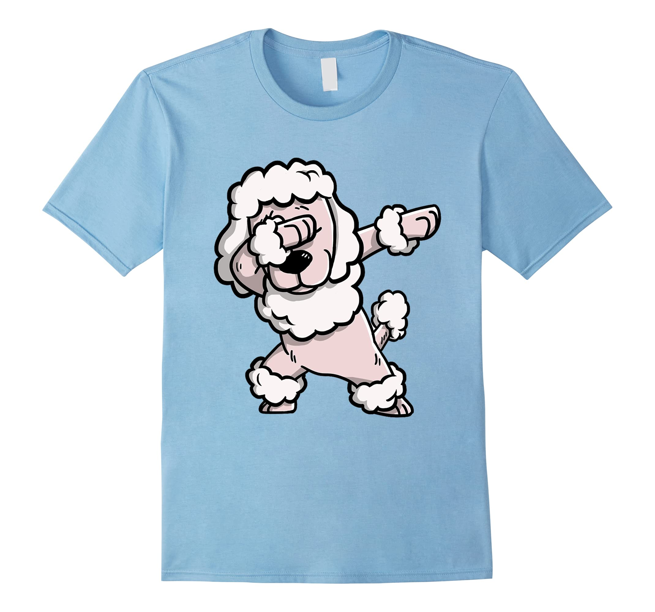 Dabbing Poodle Cartoon Troll T Shirts-Awarplus