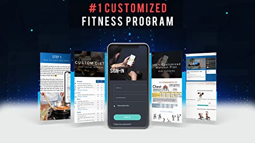 #1 Personalized Workout Program - 100% Customized Fat Loss Program With 3 Different Diets, Ketogenic, Fasting or Special Diet Geared For Fat Loss And Lean Muscle Building. MEN'S VERSION. [Online Course] [Online Code]