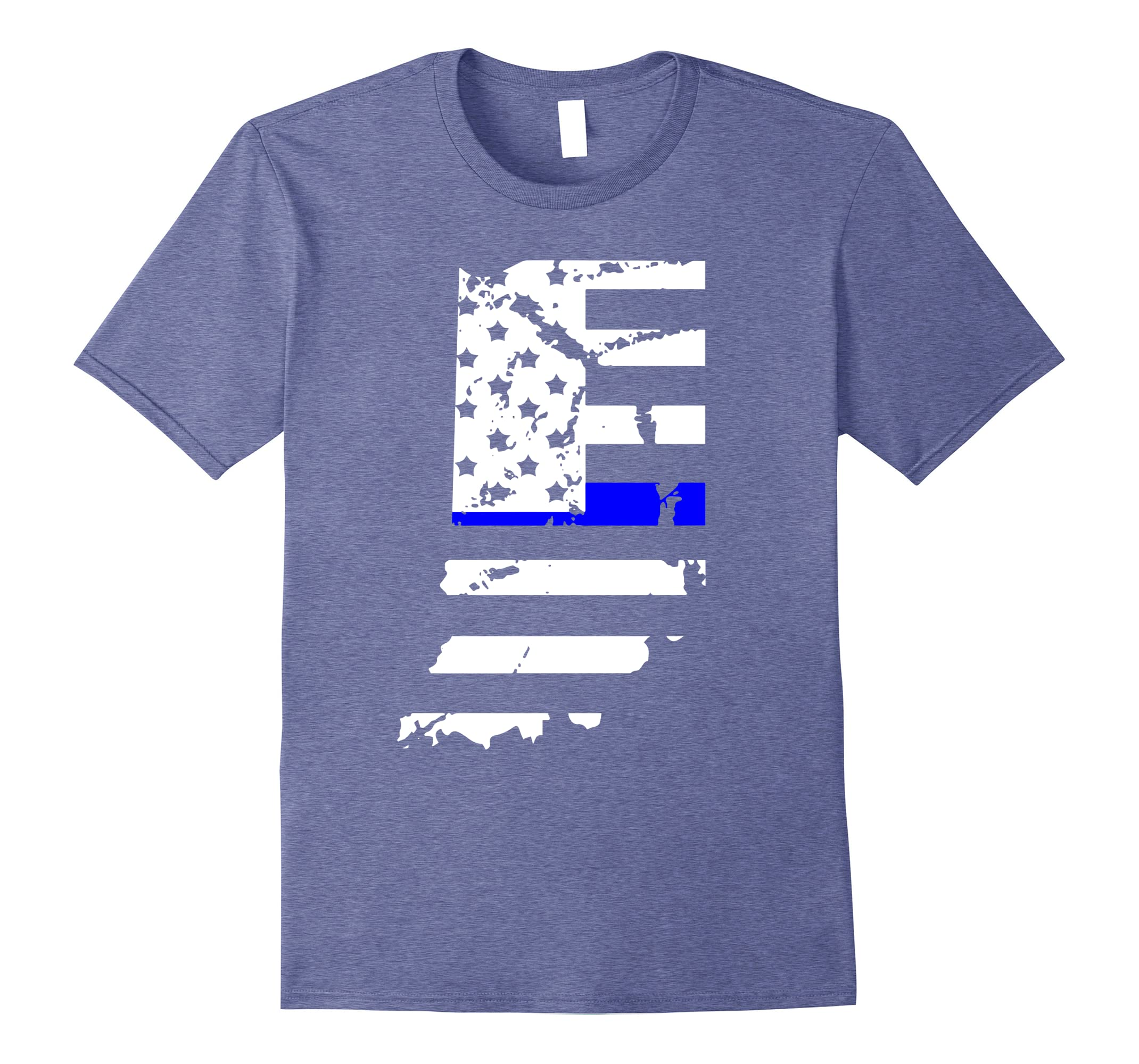 Thin Blue Line Indiana Police Gifts American Flag Cop Tee-RT