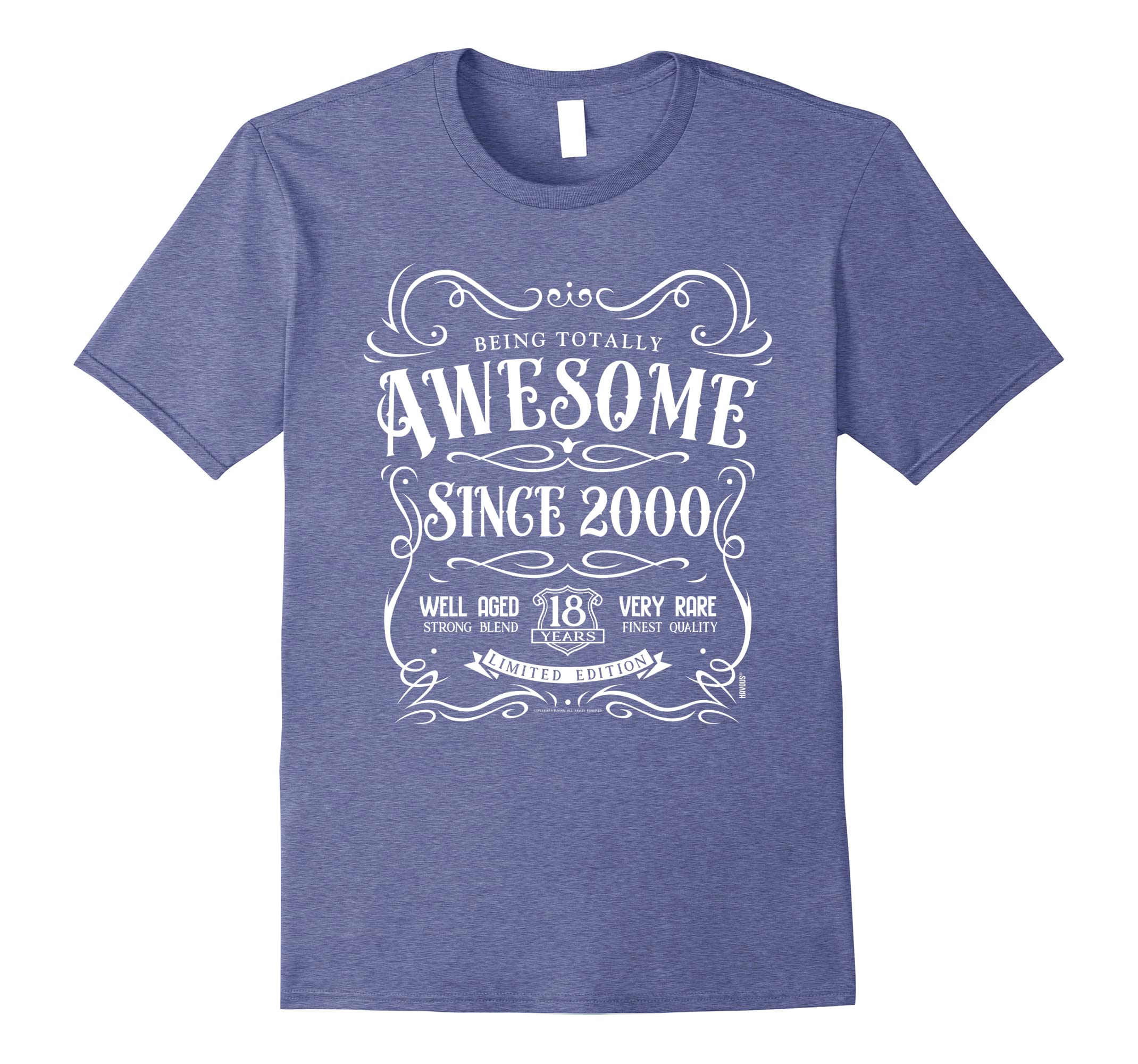 18th Birthday Gift T-Shirt Awesome Since 2000-Newstyleth