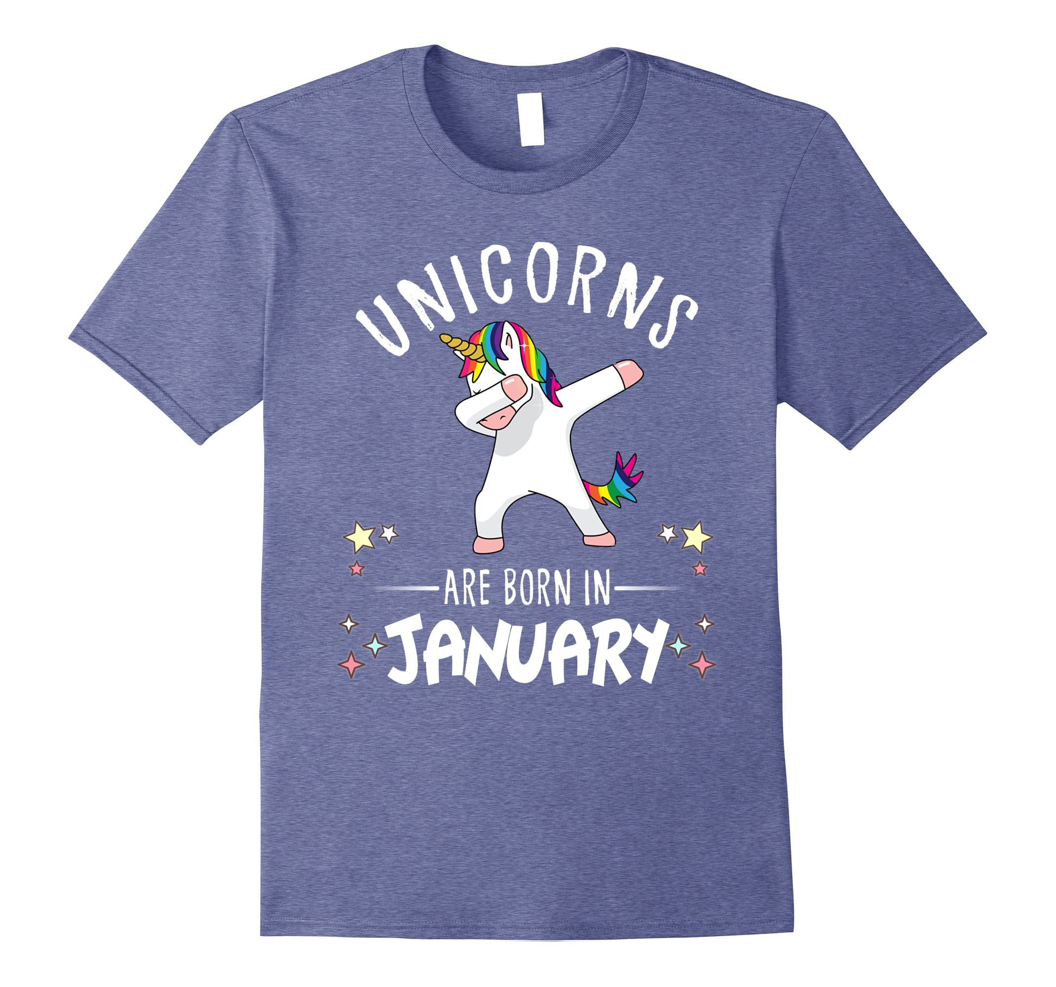 Unicorns are born in January Dabbing T Shirt funny Kids Tee-RT