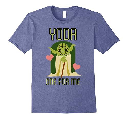 b2c32e1b Amazon.com: Star Wars Yoda One For Me Cute Valentine's Graphic T-Shirt:  Clothing