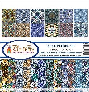 Ella & Viv by Reminisce Spice Market Scrapbook Collection Kit, EAV-1013, Original Version