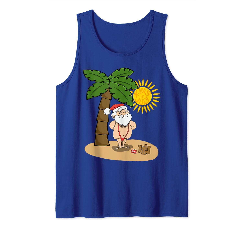 Christmas In July Swimsuit.Xmas In July Santa Beach Sunbathing Red Mankini Swimsuit Tank Top