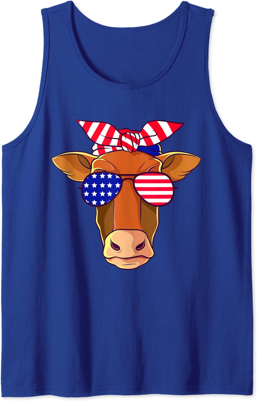 4th of July Shirt Patriotic Shirt Funny Fourth of July Shirt Cute 4th of July Shirt American Shirt America Cute Cow Shirt