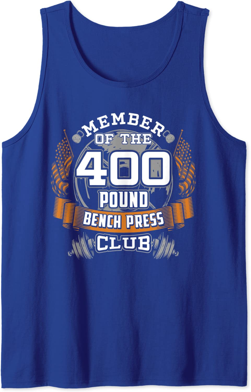 Amazon Com 400 Pound Bench Press Bodybuilder Weightlifting Tank Top Clothing