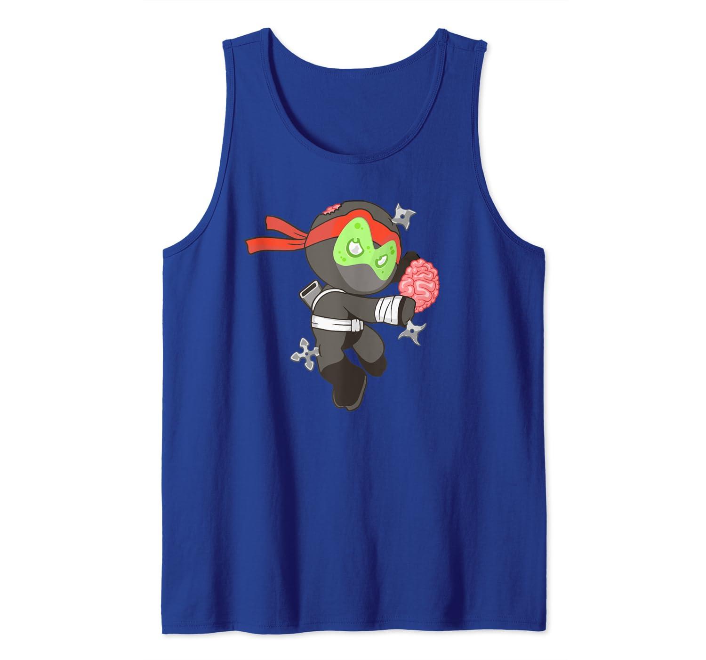 Amazon.com: Zombie Ninja Funny Undead Martial Arts Tank Top ...