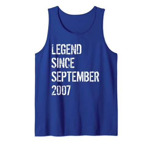 Born In September 2007 12 Year Old Birthday Gift Tank Top