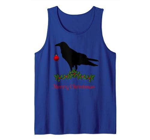 Merry Christmas Crow Christmas Blackbird Tank Top