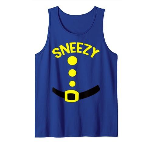 Sneezy Dwarf Halloween Costume Funny Gift Idea Sneezy Dwarf  Tank Top