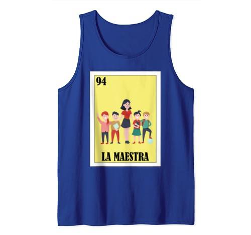 Amazon.com: Loteria Shirts - La Maestra Shirt - Spanish ...