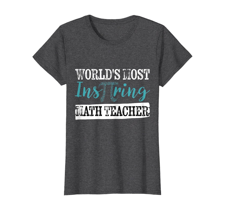 Retro World's Most Inspiring Teacher t-shirt Pi Day Gift