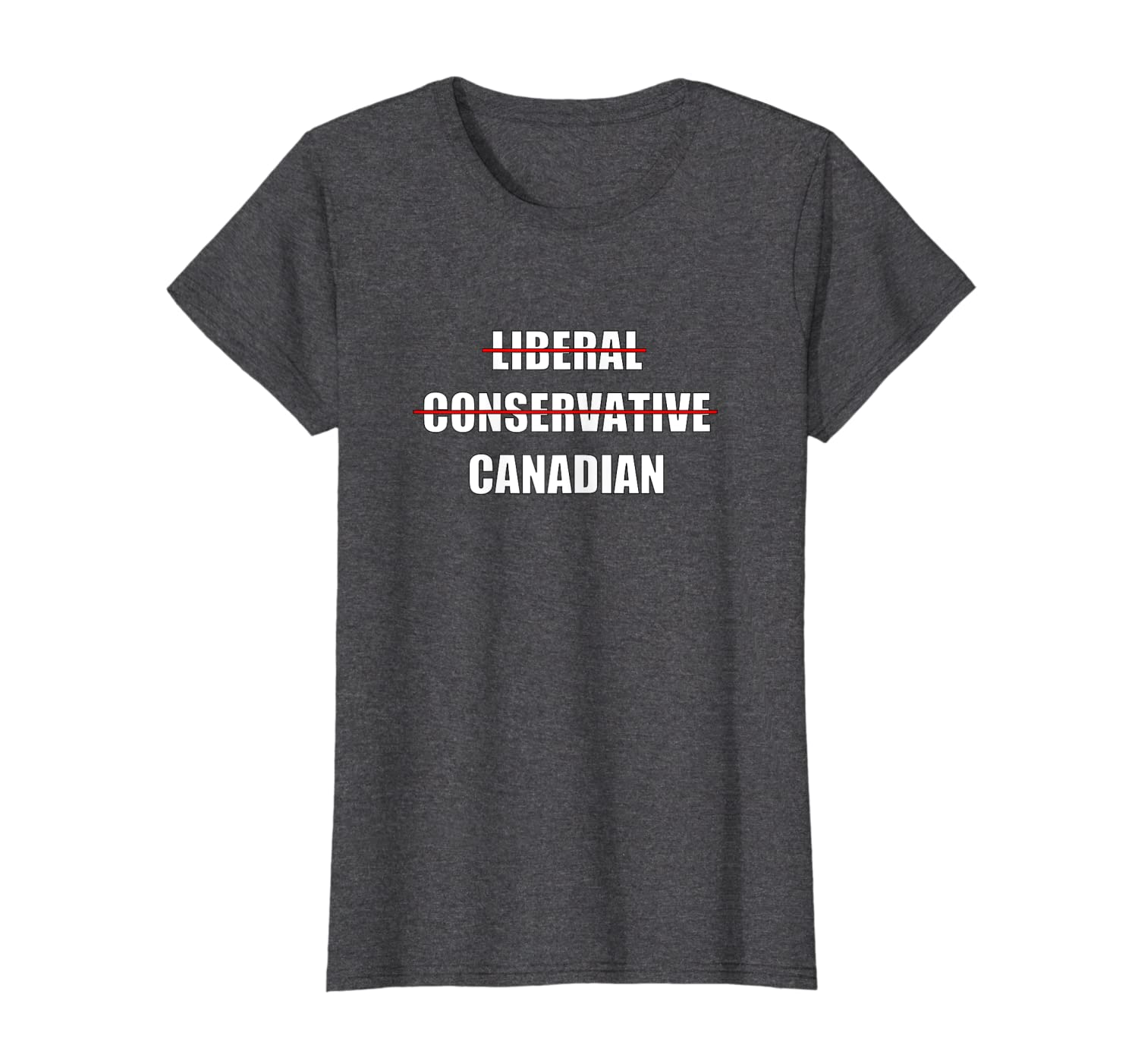 Not A Liberal Or Conservative Canadian Canada Day T Shirt
