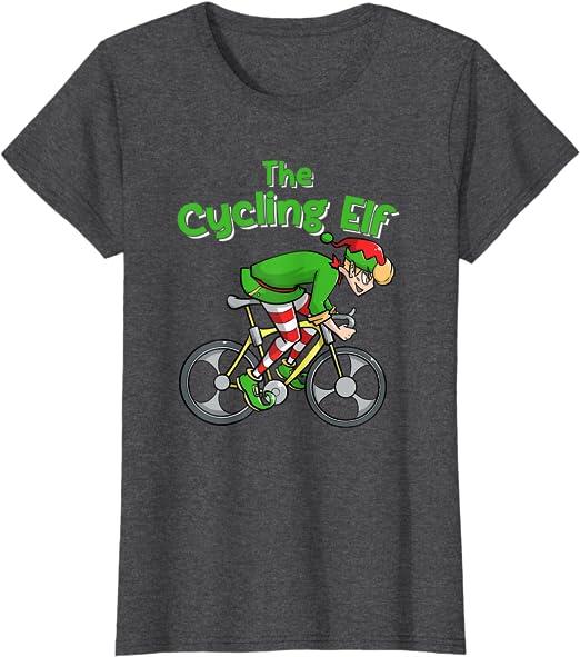 BMX Elf Trick Bicycle Christmas T-Shirt Freestyle Bike Riding