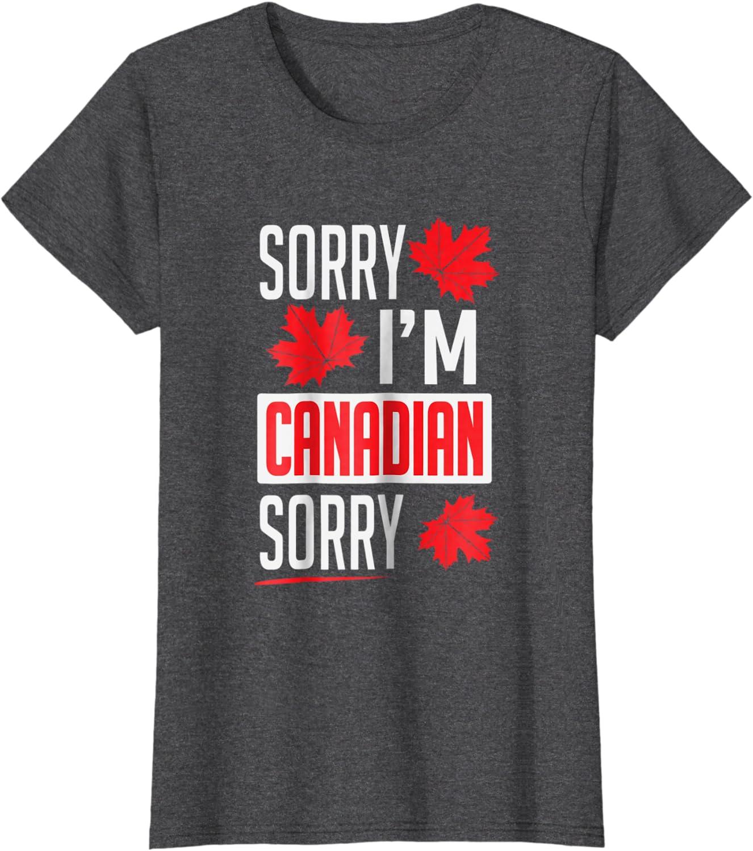 Mens Sorry Definition Tshirt Funny Canada Apology Tee