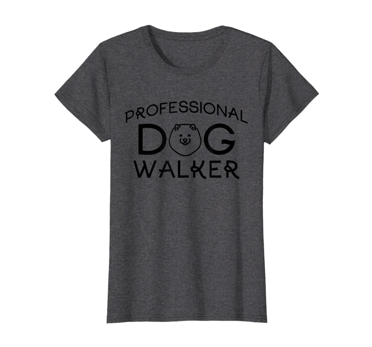 Professional Dog Walker Cute Puppy Tshirt Pet Lover T-Shirt-Women's T-Shirt-Dark Heather